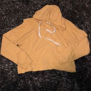 Yellow cropped hoodie!